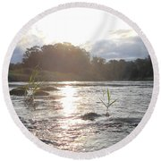 Mississippi River Victory At Sea Round Beach Towel
