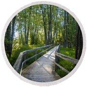 Mississippi Riverwalk Trail - Carleton Place, Ontario Round Beach Towel