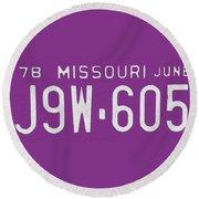 Missouri '78 Round Beach Towel