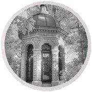 Missouri Botanical Garden Henry Shaw Crypt Infrared Black And White Round Beach Towel