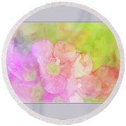 Missouri Wildflowers 5  - Polemonium Reptans -  Digital Paint 8 Round Beach Towel