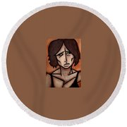 Missy Round Beach Towel by Thomas Valentine