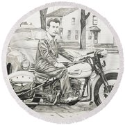 Mister Cool Round Beach Towel