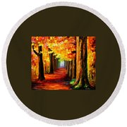 Mistery Alley Round Beach Towel