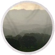 Misty Afternoon  Round Beach Towel