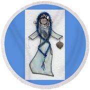 Mystic Blue Round Beach Towel