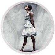 Misty Copeland Ballerina As The Little Dancer Round Beach Towel