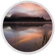 Misty Dawn Round Beach Towel