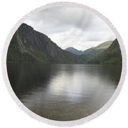 Misty Fjord 3 Round Beach Towel