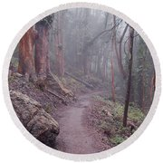 Cloud Forest- Mount Sutro Round Beach Towel