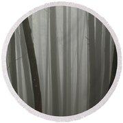 Misty Forest Round Beach Towel