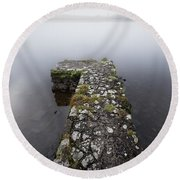 Misty Lough Erne Round Beach Towel