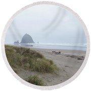 Misty Morning Round Beach Towel
