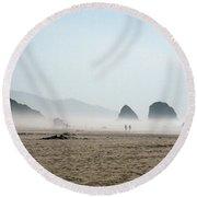 Misty Morning Photograph Round Beach Towel