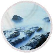 Misty Ocean Round Beach Towel