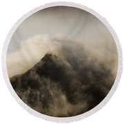 Misty Peak Round Beach Towel