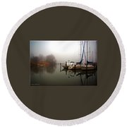Misty Reflections Round Beach Towel