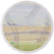 Misty Sea, Jan Toorop, 1899 Round Beach Towel