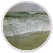 Misty Seas Round Beach Towel