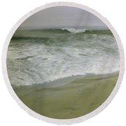Misty Seas Round Beach Towel