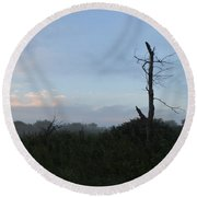 Misty Sunrise Round Beach Towel