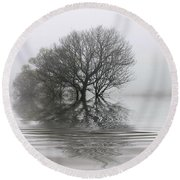 Misty Wetlands Round Beach Towel