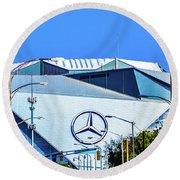 Mercedes Benz Stadium Round Beach Towel