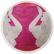Mitski Round Beach Towel