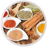 Mix  Of Spices Round Beach Towel