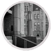 Mixed Architecture Round Beach Towel