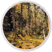 Mixed Forest Round Beach Towel