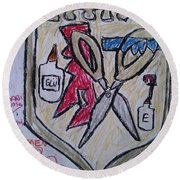 Mixed-media Mobb Round Beach Towel