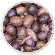 Mixed Olives Round Beach Towel