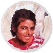Mj And Polly Round Beach Towel