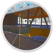 Mv  Krait In Darling Harbour Sydney Round Beach Towel