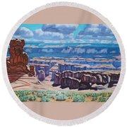 Arches National Park,moab, Utah Round Beach Towel