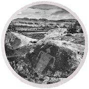 Moab Maiden Petroglyph Black And White Utah Photograph