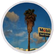 Mobil Self Serve Round Beach Towel