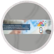 Mobile-app-development-solutions-mobiloitte Round Beach Towel