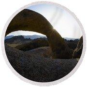Mobius Arch Alabama Hills California 2 Round Beach Towel