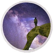 Mobius Milky Way Round Beach Towel