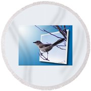 Mockingbird Branch Round Beach Towel