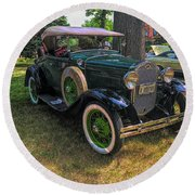 1928 Model A Ford  Round Beach Towel
