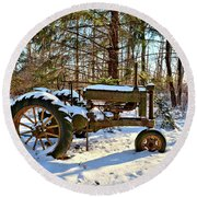 Model A Deere 2 Round Beach Towel