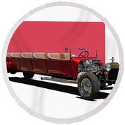 Model A Ford Limousine Round Beach Towel