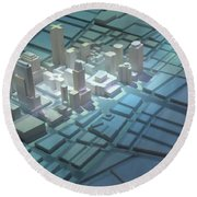 Model City 2 Round Beach Towel
