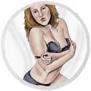 Model - Michelle Round Beach Towel