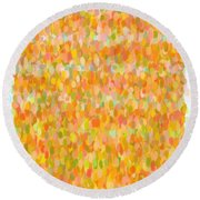Modern Abstract Pointilist Color Combination 1 Round Beach Towel