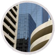 Modern Architecture Round Beach Towel