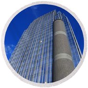 Modern Architecture II Round Beach Towel